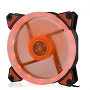 (1014397) Вентилятор для компьютерного корпуса CMCF-12025S-1233 (120*120*25мм;Оранжевое LED кольцо;1650об/мин;60CFM;23Дб;Подшипник скольжения;3pin+MOLEX(папа-мама) 40+10см)