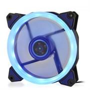 (1014395) Вентилятор для компьютерного корпуса CMCF-12025S-1231 (120*120*25мм;Синее LED кольцо;1650об/мин;60CFM;23Дб;Подшипник скольжения;3pin+MOLEX(папа-мама) 40+10см)
