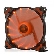 (1014393) Вентилятор для компьютерного корпуса CMCF-12025S-1223 (120*120*25мм, Оранжевый 16LED, 1500 об/мин, 35CFM, 20Дб, Подшипник скольжения, 3pin+MOLEX(папа-мама) 40+10см)