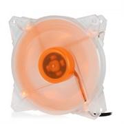 (1014389) Вентилятор для компьютерного корпуса CMCF-12025S-1213 (120*120*25мм;Оранжевый 4LED;1650об/мин;60CFM;28Дб;Подшипник скольжения;3pin+MOLEX(папа-мама) 40+10см)
