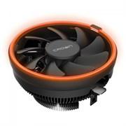 (1014383) Кулер CROWN для процессора CM-1153PWM ORANGE (Сокет AM4 Ready, 115X, 775, TDP до 115 Ватт, коннектор 4pin PWM, Оранжевая подсветка, Размер: 126(L)*126(W)*70(H)мм)