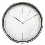 (1014697) Часы настенные аналоговые Бюрократ WallC-R28P хром