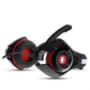 (1014784) Гарнитура игровая CROWN CMGH-102T Black&red (Подключение USB, встроенная аудио карта, Частотный диапазон: 20Гц-20,000 Гц ,Кабель 2.1м,Размер D 250мм)