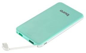 (1015308) Мобильный аккумулятор Buro RCL-5000-GW Li-Pol 5000mAh 1A зеленый/белый 1xUSB