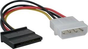 (9274) Кабель питания VCOM (VPW7571), molex 4pin -> SATA 15pin, HDD SATA power cable
