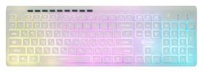 (1014706) Клавиатура Oklick 490ML белый USB slim Multimedia LED