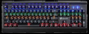(1014468) Клавиатура Oklick 920G IRON EDGE механическая черный USB Gamer LED