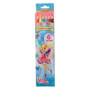 (1015779) Карандаши 6 цветов в картонной коробке Школа талантов Принцесса 1014672