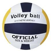 (1015855) Мяч волейбольный размер 5, 210 гр, 2 подслоя, машин. сшивка 442939