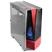(1016065) Корпус 3Cott G10 черный , ATX, без БП, игровой, 1x USB 3.0, 1x USB 2.0, окно, 2х 12см LED