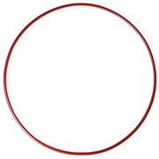 (746185) Обруч стальной гимнастический d 900 мм, стандартный, вес 900 г, цвет красный 746185