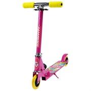 (4013635) Самокат складной GRAFFITI, колёса PVC d=100 мм, цвет розовый 4013635