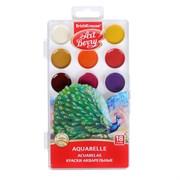 (1016707) Акварель 18 цветов ArtBerry, в пластиковой коробке, УФ-защита яркости, европодвес 1794698