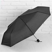 (1016733) Зонт механический «Однотонный», 3 сложения, 8 спиц, R = 48 см, цвет чёрный 653090