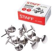 (1016753) Кнопки канцелярские, никелированные, 10 мм, 50 шт., STAFF, эконом, в картонной коробке 2065378