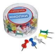 (1016754) Кнопки силовые, цветные, 40 шт., в пластиковой коробке, CALLIGRATA 1293694