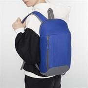(1016900) Рюкзак молодёжный, отдел на молнии, 2 наружных кармана, цвет синий 3948103