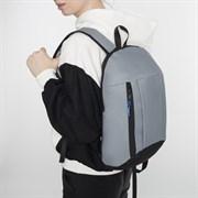 (1016903) Рюкзак молодёжный, отдел на молнии, наружный карман, цвет серый 4096366