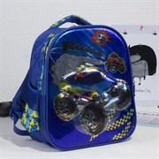 (1016906) Рюкзак школьный, 2 отдела на молниях, 2 боковые сетки, цвет синий 2825924