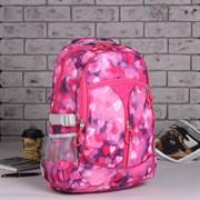 (1016907) Рюкзак школьный, отдел на молнии, 3 наружных кармана, 2 боковые сетки, цвет розовый 1661140