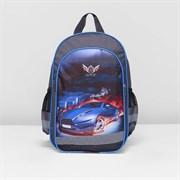 (1016908) Рюкзак школьный, отдел на молнии, 3 наружных кармана, цвет серый 2119394