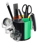 (1016704) Настольный набор Silwerhof (10 предметов) пластик черный