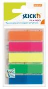 (1016636) Закладки самокл. индексы пластиковые Stick`n 21050 12x45мм 5цв.в упак. 25лист европодвес
