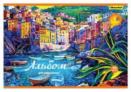 (1016634) Альбом для рисования Silwerhof 911111-74 40л. A4 Венеция 2диз. картон скрепка