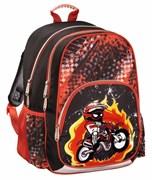 (1016651) Рюкзак Hama MOTORBIKE черный/красный Размеры:28x40x18 см, Вес:0.7 кг, жесткая спинка эргономичной формы.