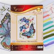 (1018194) Набор для вышивания крестом «Синие бабочки» 42-03 1356392