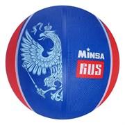 "(1019494) Мяч баскетбольный MINSA ""RUS"" р.7, 500 гр, PVC, камера бутил   3998956"