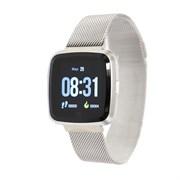 """(1019570) Смарт-часы NO.1 G12, цветной дисплей 1.3"""", стальной ремешок, серебристые 4434119"""
