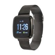 """(1019571) Смарт-часы NO.1 G12, цветной дисплей 1.3"""", стальной ремешок, чёрные 4434120"""