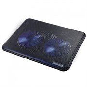 "(1008717) Подставка для ноутбука CROWN CMLC-202T (для ноутбуков до 17"" Размер: 365*70*19мм; Размер вентилятора: 140мм *2шт. LED подсветка; USB)"