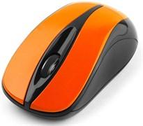 (1011515) Мышь беспров. Gembird MUSW-325-O, 2.4ГГц, оранжевый, 2 кнопки+колесо-кнопка, 1000 DPI, батарейки в комплекте, блистер