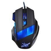 (1012180) Мышь Oklick 775G Ice Claw черный/синий оптическая (2400dpi) USB игровая (6but)