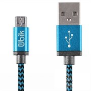 (1013439) USB кабель Ubik UL03 Lightning Cord 2A (1,2m) blue