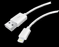 (1013675) USB кабель Lightning Krutoff Classic (0,2m) белый