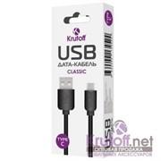 (1013671) Кабель USB Type-C Krutoff Classic (1m) черный