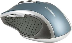 (125061) Мышь беспроводная Defender Safari MM-675 Nano Sky, 800/1200/1600 dpi, синяя (52675)