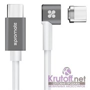 (1014417) Кабель USB Type-C to USB Type-C Promate MagLink-C магнитный 86W/20.2V, 4.3A (2m) white