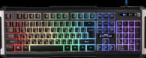 (1016040) Игровая клавиатура Defender Chimera чёрная (RGB подсветка, USB, GK-280DL)