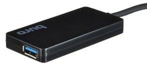 (1016088) Разветвитель USB-C Buro BU-HUB4-0.2-U3.0 4порт. черный