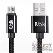 (1016112) USB кабель micro Ubik UM01 Carbon 2A (1,2m) black