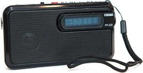 (1016287) Радиоприемник портативный Сигнал РП-225 черный USB microSD