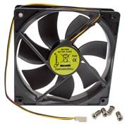 (1016487) Вентилятор Gembird FANCASE3, 120x120x25, втулка, 3 pin, провод 30 см