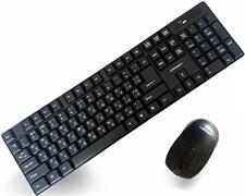 (1016582) Беспроводной  набор клавиатура и мышь CROWN CMMK-954W (Black, 104 клавиши,  мышь  , 4 кнопки, 1000 DPI, 2.4Ггц, 1 nano ресивер, USB)