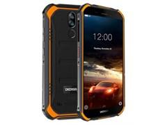 (1016993) Смартфон Doogee S40 Fire Orange, 5.5'' 18:9 960x480, 1.5GHz, 4 Core, 2GB RAM, 16GB, up to 64GB flash, 5Mpix+8Mpix/5Mpix, 2 Sim, 2G, 3G, LTE, BT, Wi-Fi, NFC, GPS, Micro-USB, 4650 мА·ч, Android 9.0 (Pie), 238 г, 158,2 ммx79 ммx14,1 мм, IP68,