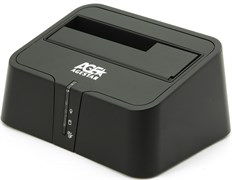 "(1017263) Док-станция для HDD AgeStar 3UBT2 SATA пластик серебристый 2.5""/3.5"""