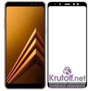 (1016004) Стекло защитное Full Glue Krutoff для Samsung Galaxy A8+ (SM-A730) черное